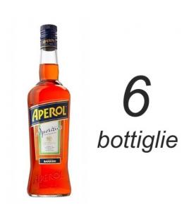 APEROL BARBIERI SCATOLA DA 6 BOTTIGLIE FORMATO BAR