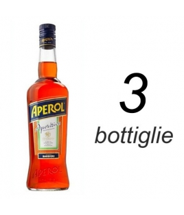 APEROL BARBIERI SCATOLA DA 3 BOTTIGLIE FORMATO BAR